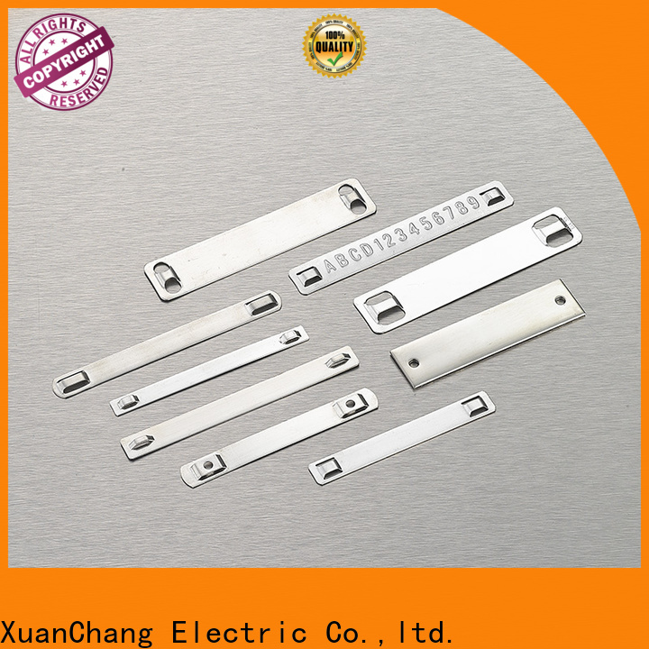 Xcch stainless steel name plate factory in food processing