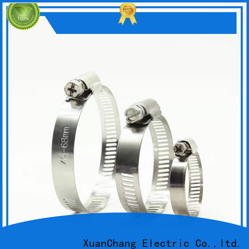XCCH stainless steel worm gear clamps supply in food processing