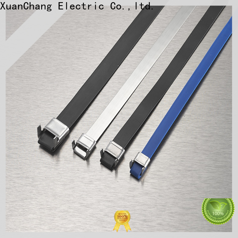 XCCH pvc coated ss cable ties factory in food processing