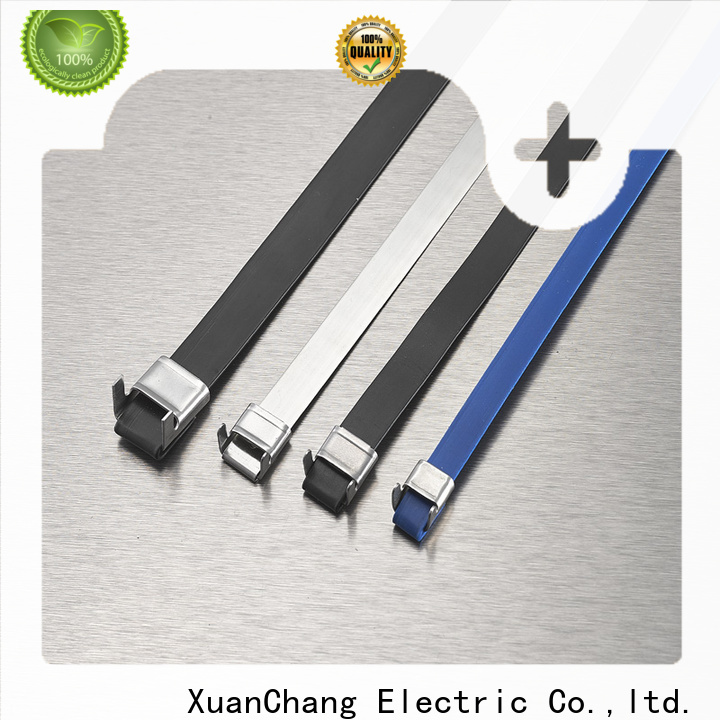 top plastic coated stainless steel cable ties supply in power transmission