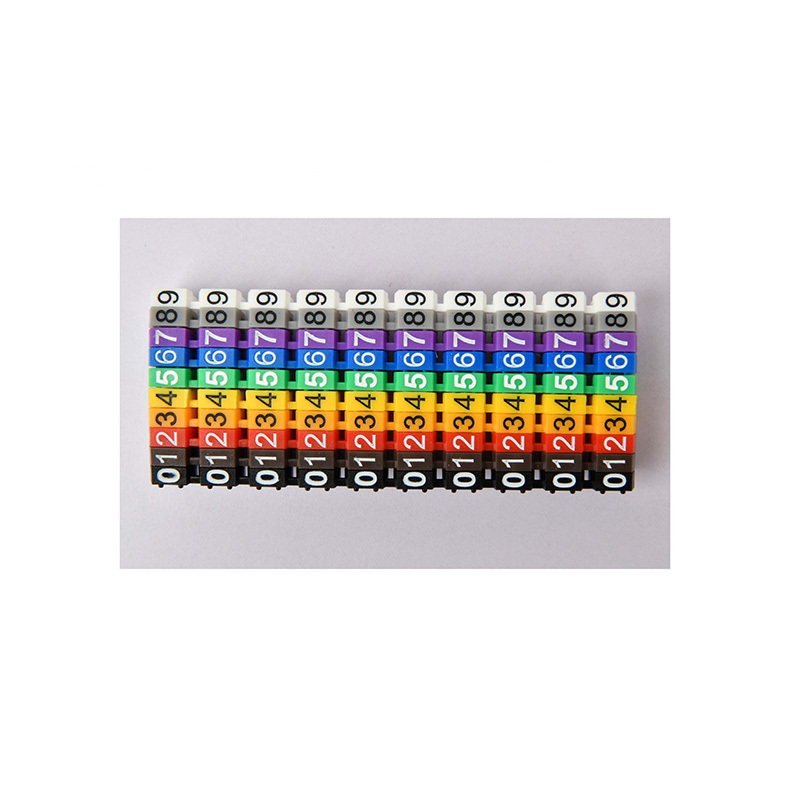 Plastic M Type Color Coded Cable Marker