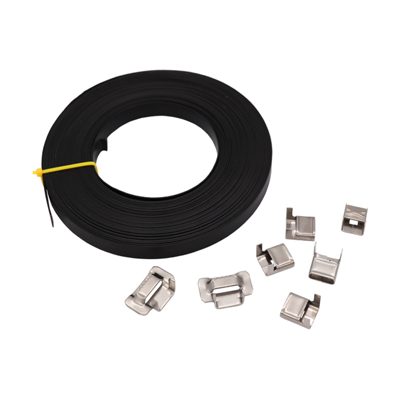 Polyester Coated Stainess Steel Strapping Band.