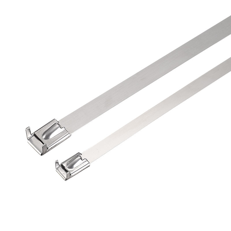Wing ball-lock stainless steel cable tie