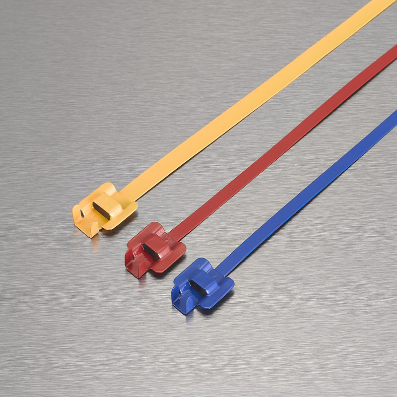 Epoxy Coated Releasable Stainless steel cable tie